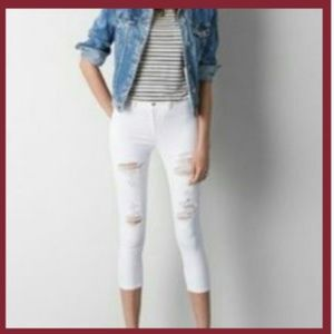 American Eagle Distressed Stretch Crop Jegging